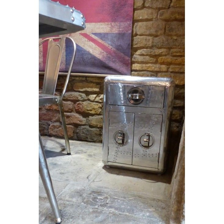 Office Cabinet Aviator Silver Themed Aviation Chest Of Drawers In Full Metal Effect For That