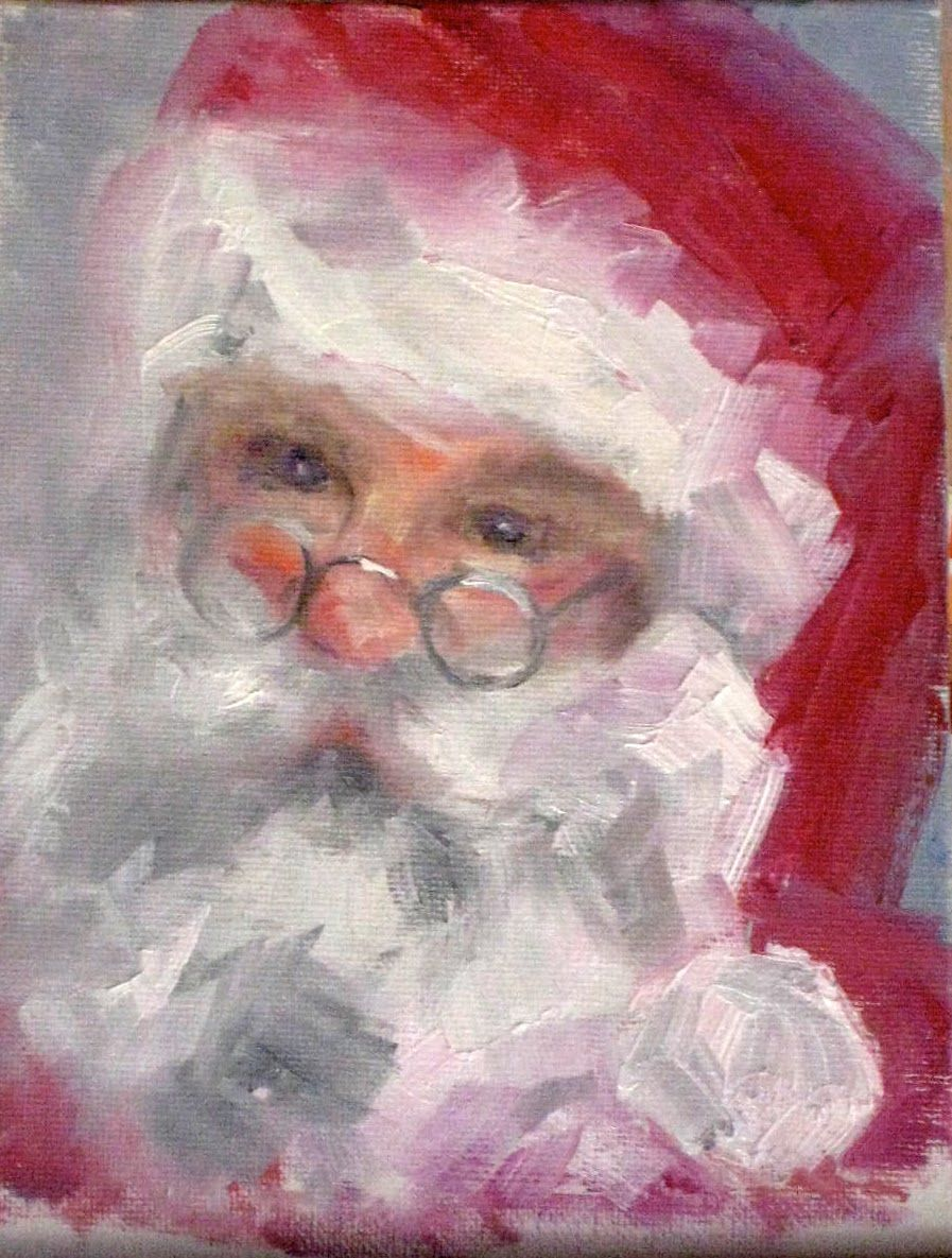 Theres something very sweet and soft about him in this painting painting by the lake santa claus jeuxipadfo Choice Image