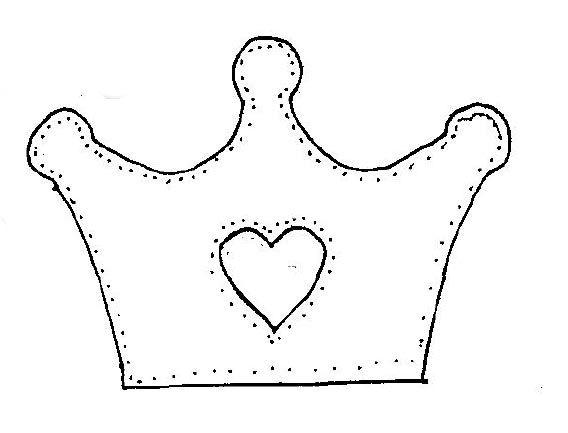 Coroa De Princesa Molde Coroa Trabalhos Manuais Patchwork