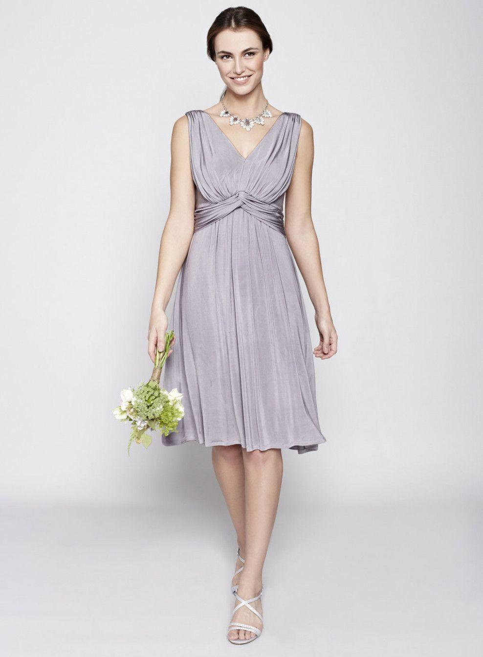 Wedding Bridesmaids Gray Grey Dresses wedding flower arrangements