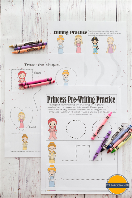 Princess Printables Educational Worksheets, Preschool Worksheets, Free  Preschool