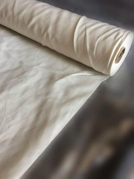 100 Extra Wide Natural White Linen Fabric 260cm Width By The Metre Bedding Bedspread Sewing Top Yard In 2018