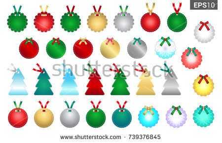 Set of season greetings gift tag template for Christmas gift - christmas gift card template