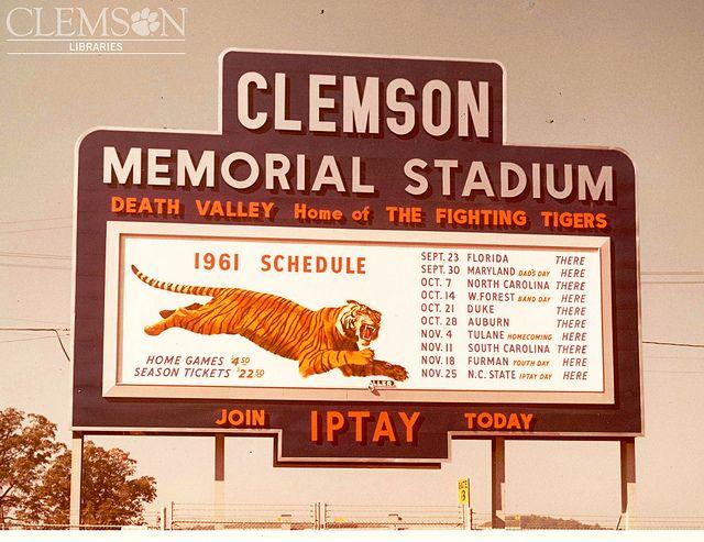 Old Scoreboard Clemson Football Clemson Fans Clemson