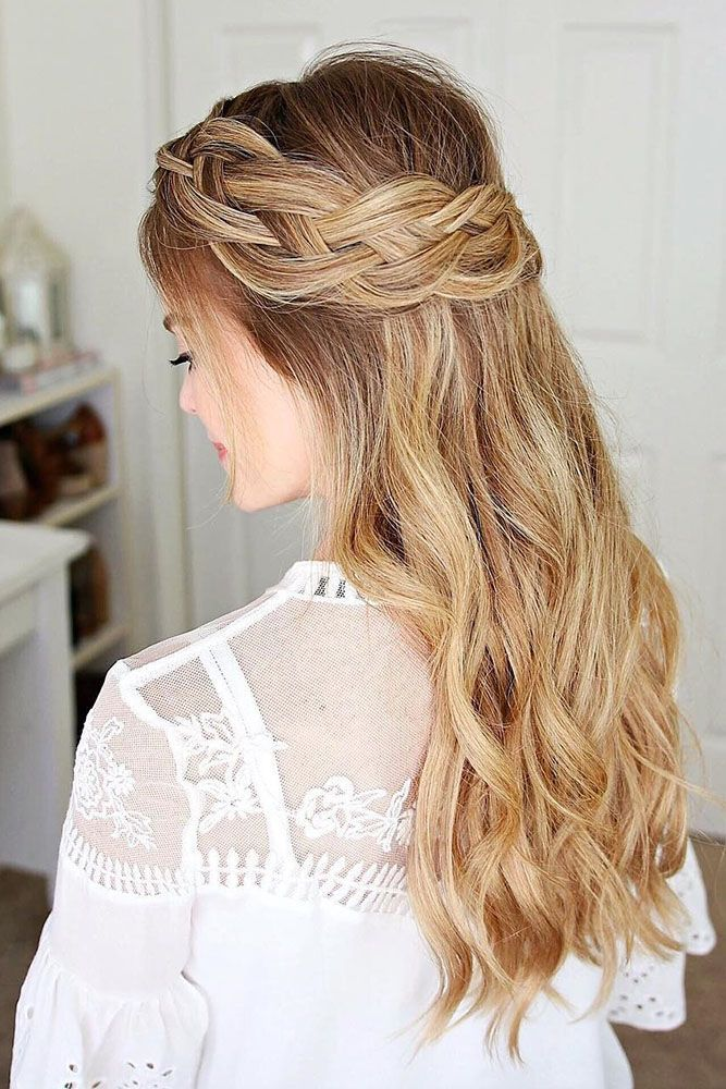 Easy Wedding Hairstyles Prepossessing Bridal Hairstyles  30 Cute And Easy Wedding Hairstyles ❤ We