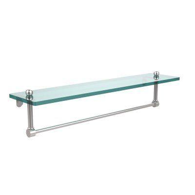 Allied Brass Glass Vanity Shelf with Integrated Towel Bar - PR-1 ...