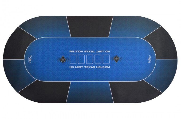tapis poker neoprene ovale bleu tapis