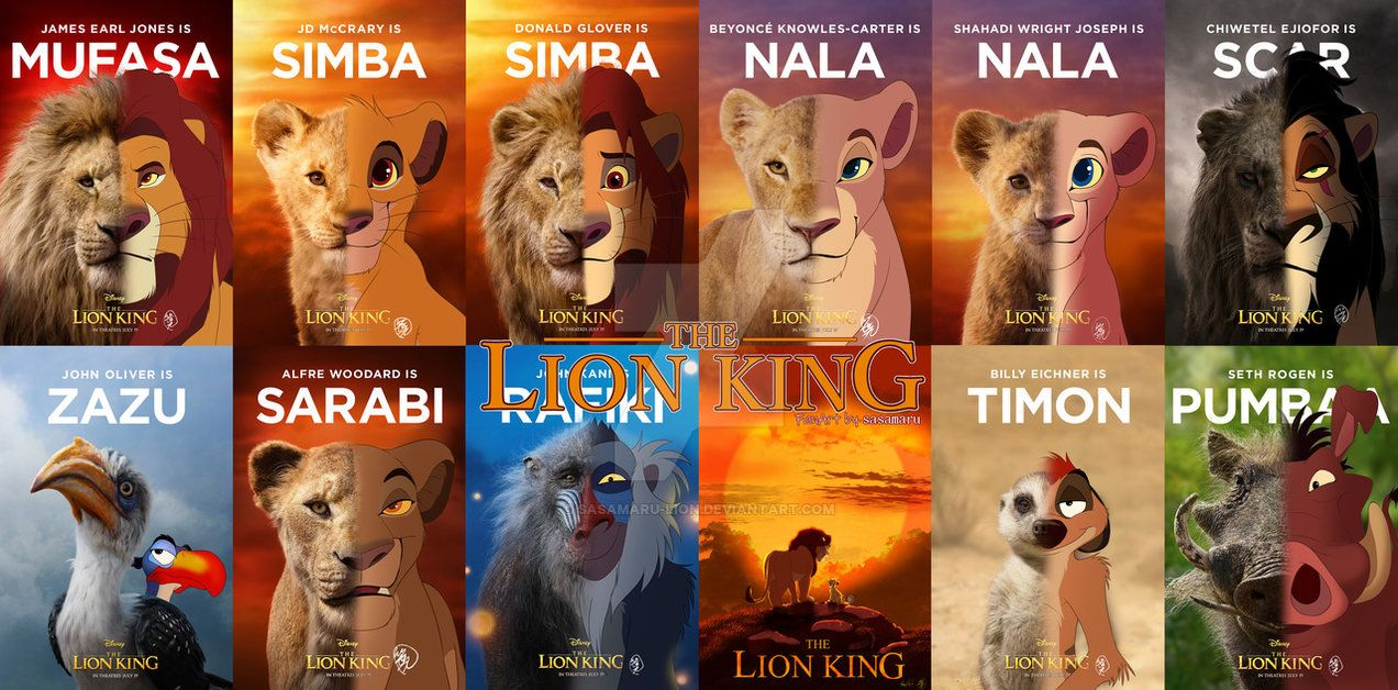 20 THE LION KING All CHARACTER by https//www.deviantart.com ...