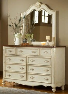 Crescent Manor 9 Drawer Dresser And Optional Mirror Contemporary Dressers Chests Bedroom