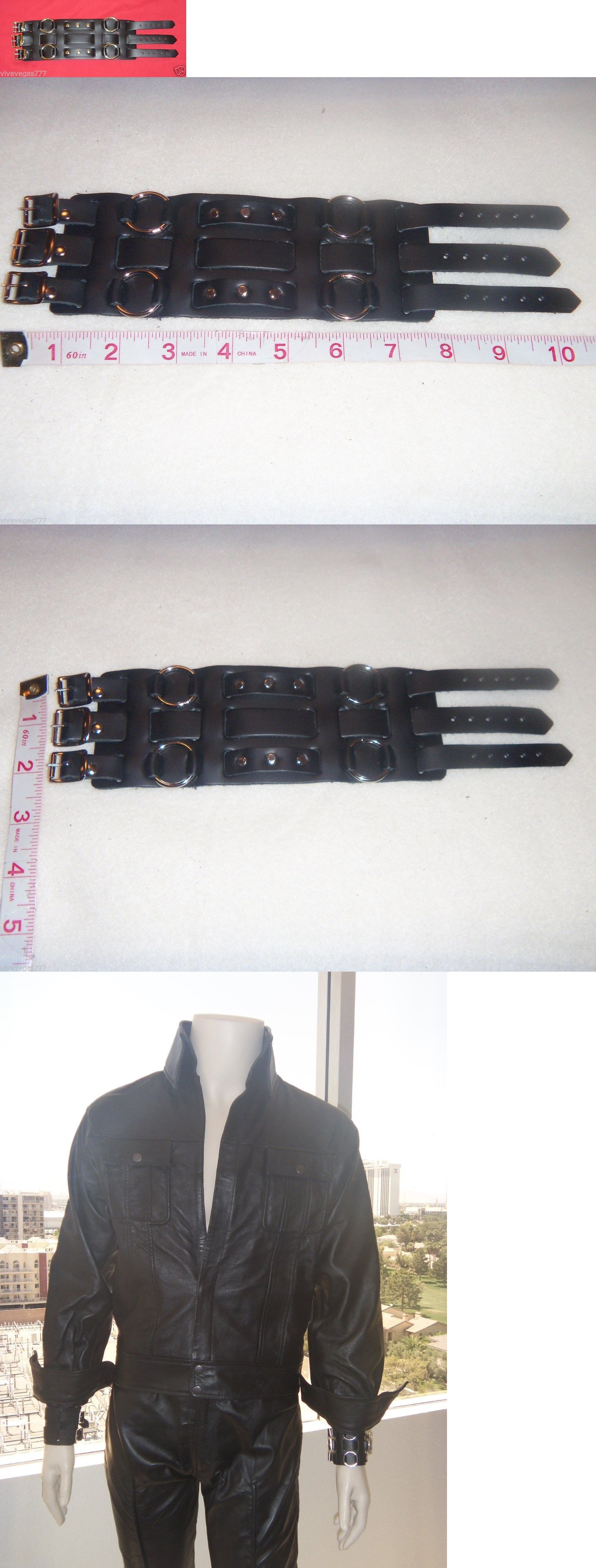 Pre Jumpsuit Era New ELVIS Black Leather 1968 Costume WATCHBAND or WRISTBAND