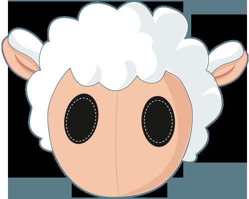 Máscara de oveja en cartulina - Imagui | dibujos | Pinterest ...