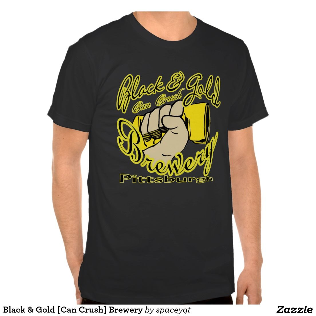 Black & Gold [Can Crush] Brewery T Shirts
