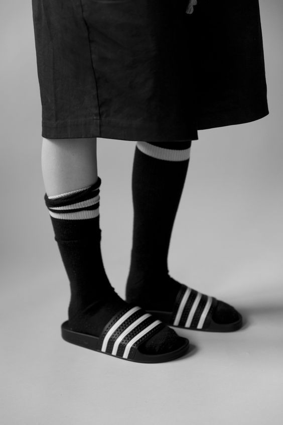 37864b4c8c561  Adidas  Socks  Sandals  SlipOn  Editorial  Minimal  Spring  Style  Fashion   BiographyInspiration