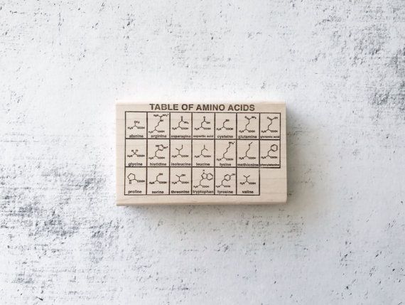 The Amino Acid Chemistry Chart Rubber Stamp Ideal Home - amino acid chart