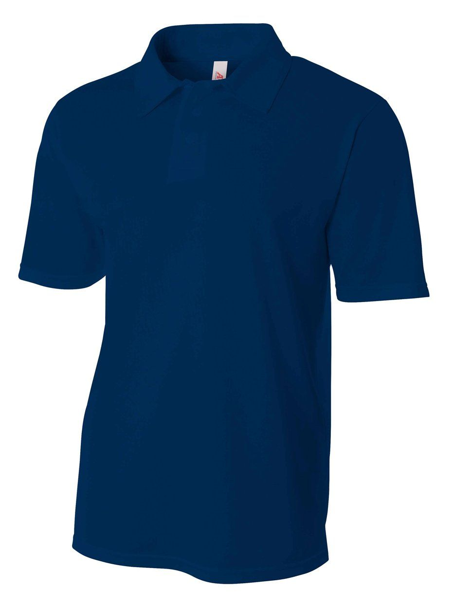 6e003ca9 Golf Clothing *** A4 Mens Textured Polo with Johnny Collar Large Navy --  Click picture to examine even more details. (This is an affiliate link).
