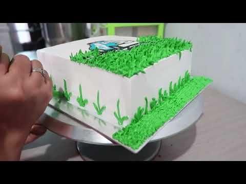 Cara Menghias Kue Ultah Sederhana Anak Laki Laki Karakter Robocar Poli Youtube Kue Tart Kue Hiasan Kue