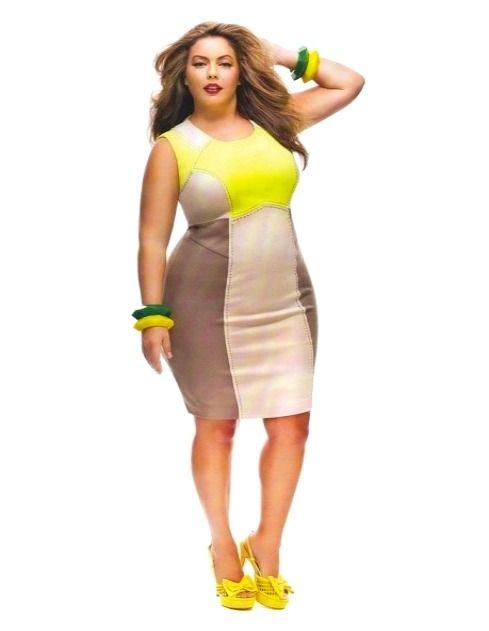 Neon Yellow Dress Color Block Womens Plus Size Fashion Unique Style