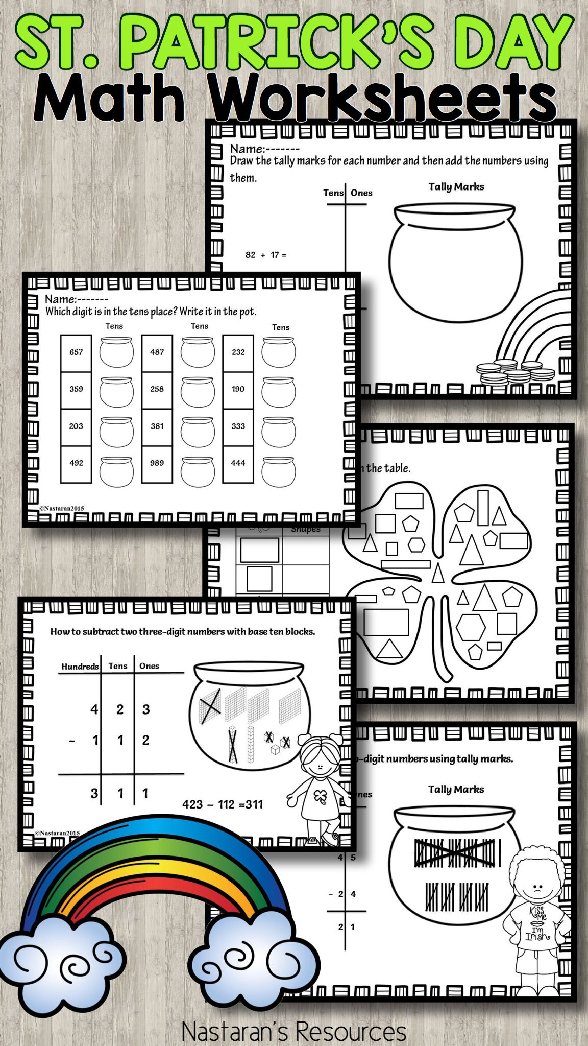 St Patrick S Day Math Worksheets