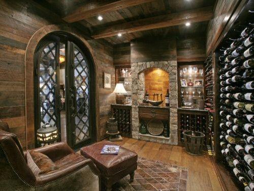 Wild Turkey Lodge Wine Cellar eclectic wine cellar Interior