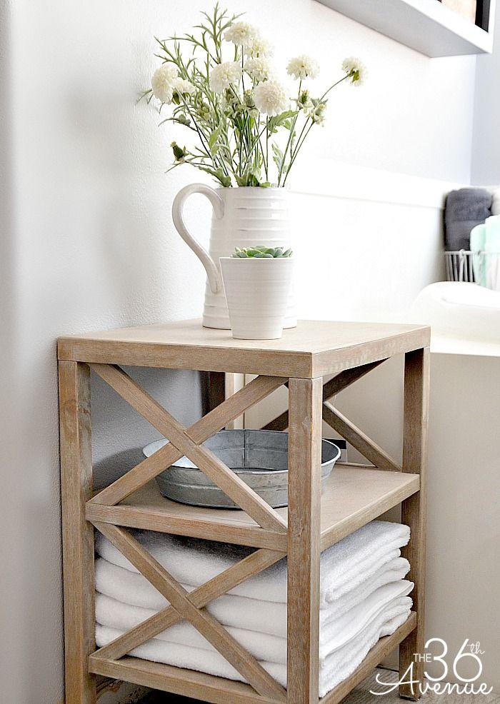 Bathroom Storage Organization Ideas Small Bathroom Table