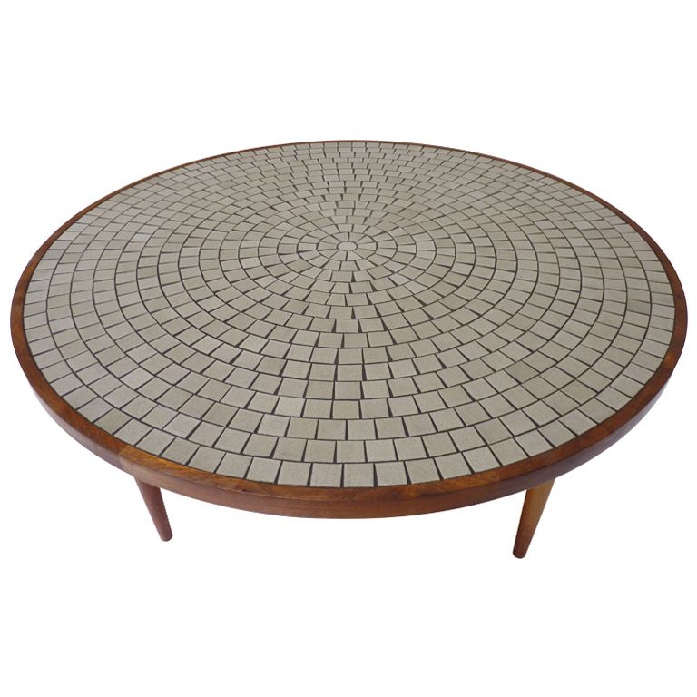Large Round Coffee Table By Gordon Martz For Marshall Studios