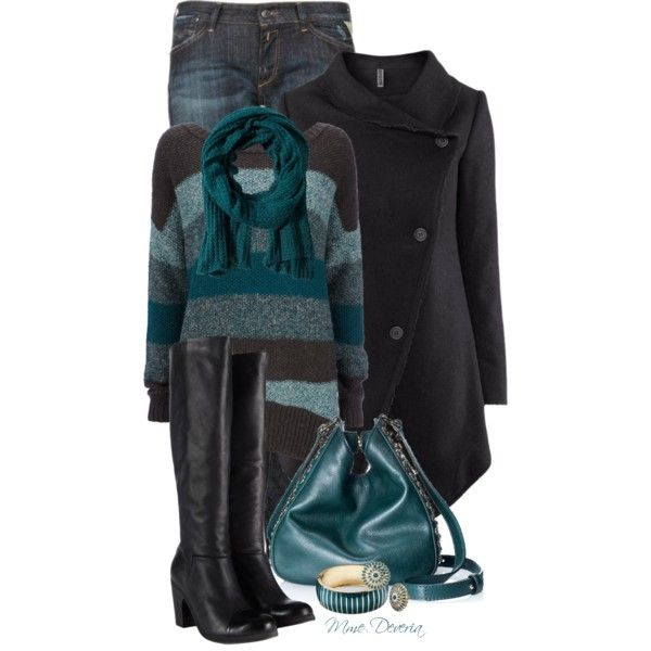 Stripe jumper by madamedeveria on Polyvore featuring Wallis, H&M, Replay, AllSaints, Juicy Couture and Rut m.fl.