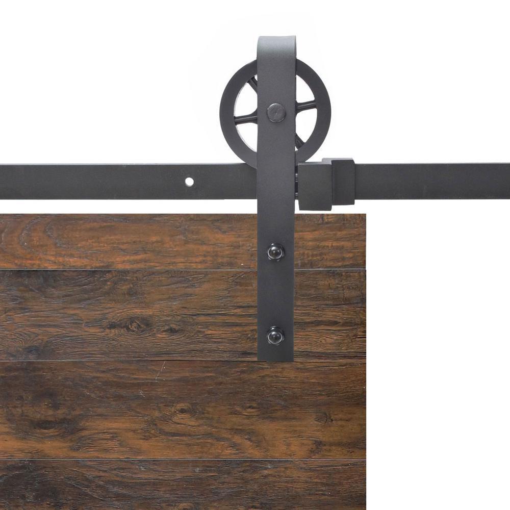 Calhome Vintage Strap Industrial Wheel Steel Sliding Barn Wood Door Hardware Sdh B01n1s K 8ft With Images Sliding Barn Door Track Barn Door Hardware Industrial Barn Door