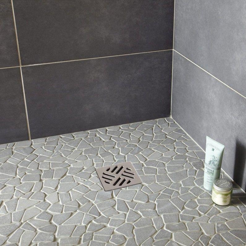 Galets Sol Et Mur Opus Gris 30 5 X 30 5 Cm Artens Carrelage Douche Italienne Carrelage Douche Douche Italienne