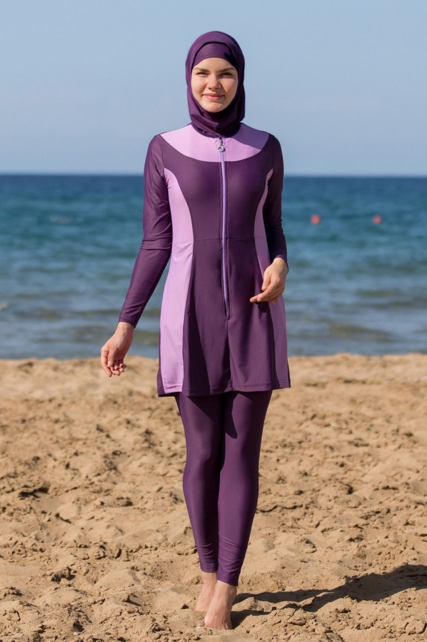 Muslim Women Full Cover Islamic One-piece  Jewish Swimwear Burkini Beachwear