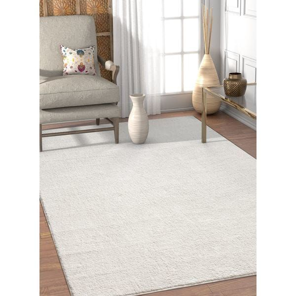 Well Woven Solid White Area Rug 7 10 X