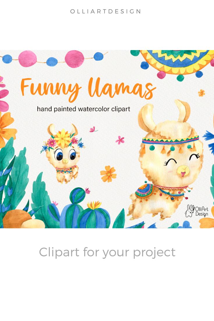 Llama Clipart Llama Party Cactus Clipart Nursery Art Kawaii Clipart Llama Decor Fiesta Clipart Cute Llama Mama Llama Llama Png Files In 2020 Kawaii Clipart Clip Art Llama Decor