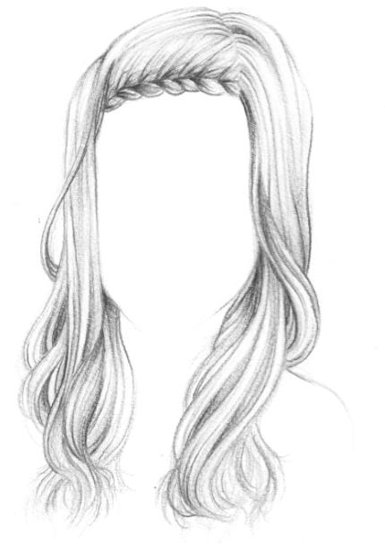 Tresse qui encadre le visage cheveux l ch s mariage - Dessin de coupe de cheveux ...