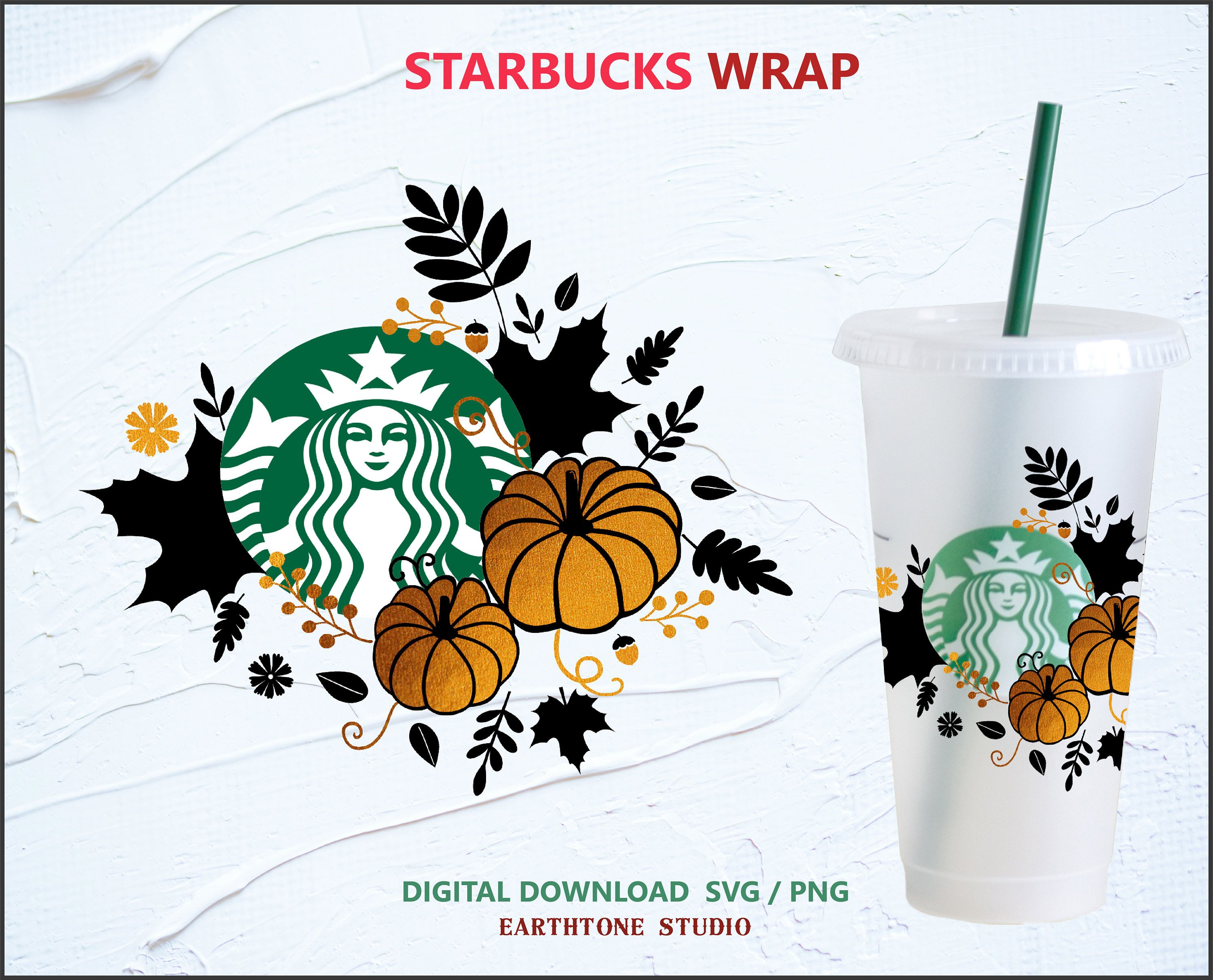 Fall Pumpkin Wrap Svg For Starbucks Venti Cold Cup 24 Oz Etsy In 2020 Starbucks Fall Starbucks Starbucks Halloween