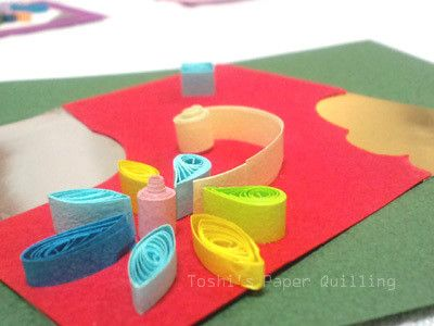"""クイリング講座も""""ビオラ""""です の画像 Toshi's Paper Quilling ♪"""