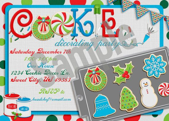 Christmas Cookie Decorating Party Invitation lets decorate – Cookie Decorating Party Invitations