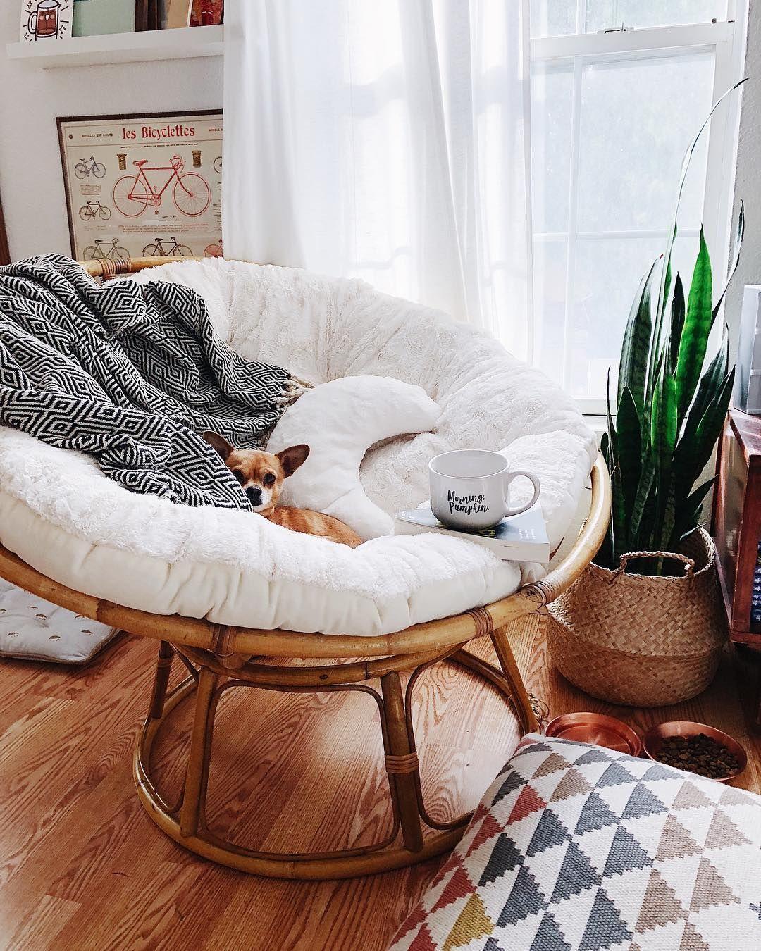 Let S Take A Seat The Papasan Chair Rebirth Might Surprise You Papasanchair Papasan Chair Home Decor Bedroom Decor #papasan #chair #living #room #ideas