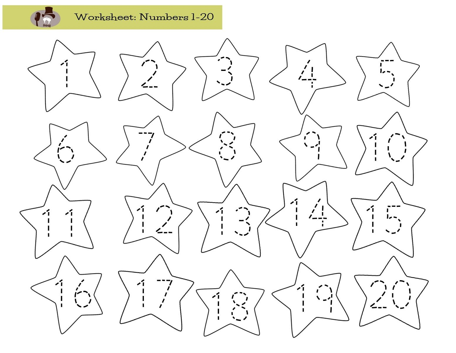 Trace Numbers 1-20 for Numbering Lesson | Kids Activity Tracing ...