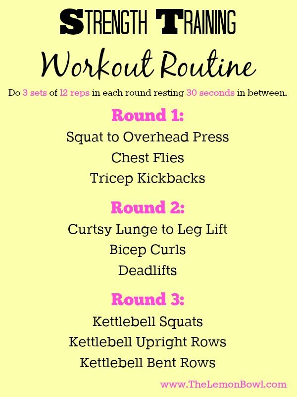 Fun and Effective Strength Training Workout Routine - The Lemon Bowl®