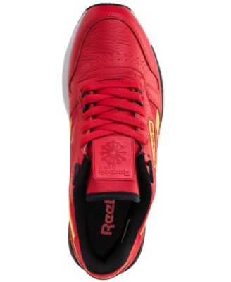 0a66177425d Reebok Men s Classic Leather 2.0 Casual Sneakers from Finish Line - PRIMAL  RED BLACK SOLAR YE 10.5