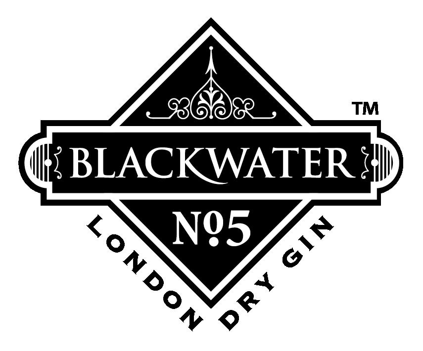 blackwater no5 london dry gin logo blackwater