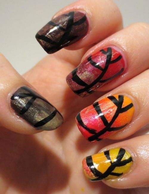 43 Easy Thanksgiving Nail Art Designs Nail Design Pinterest