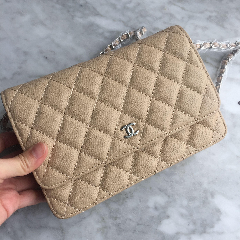 5674a69da6bb Chanel woc caviar leather beige silver Chanel Woc Caviar, My Wish List,  Fashion Bags