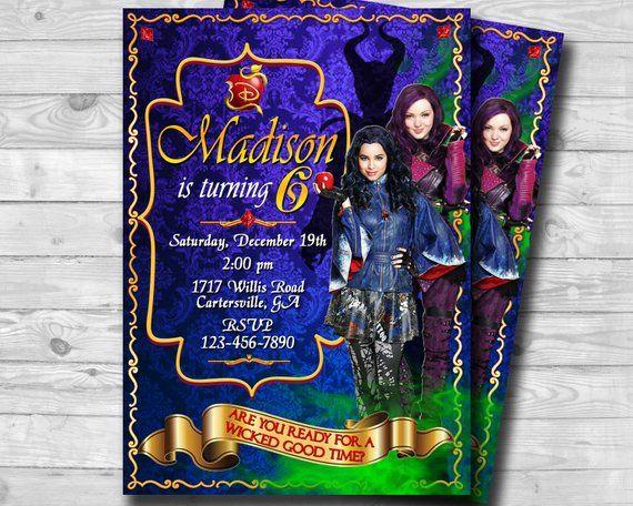 The Descendants Invitation 2 Invite Mal And Evie Invi