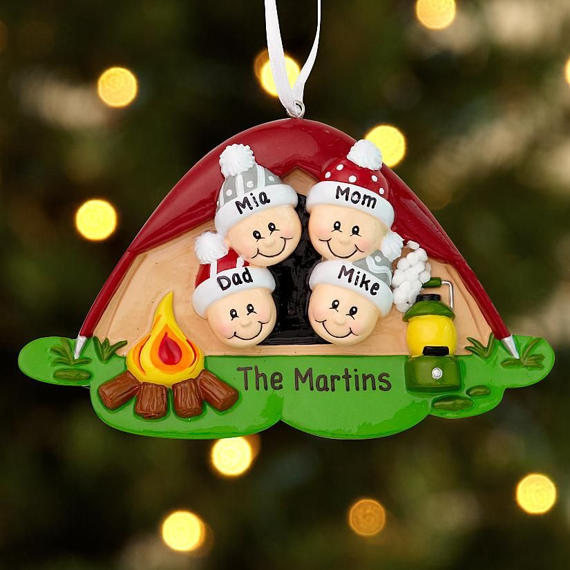 Personalised Christmas Tree Ornament Family Tree Mum Dad Kids 2-6 Decoration