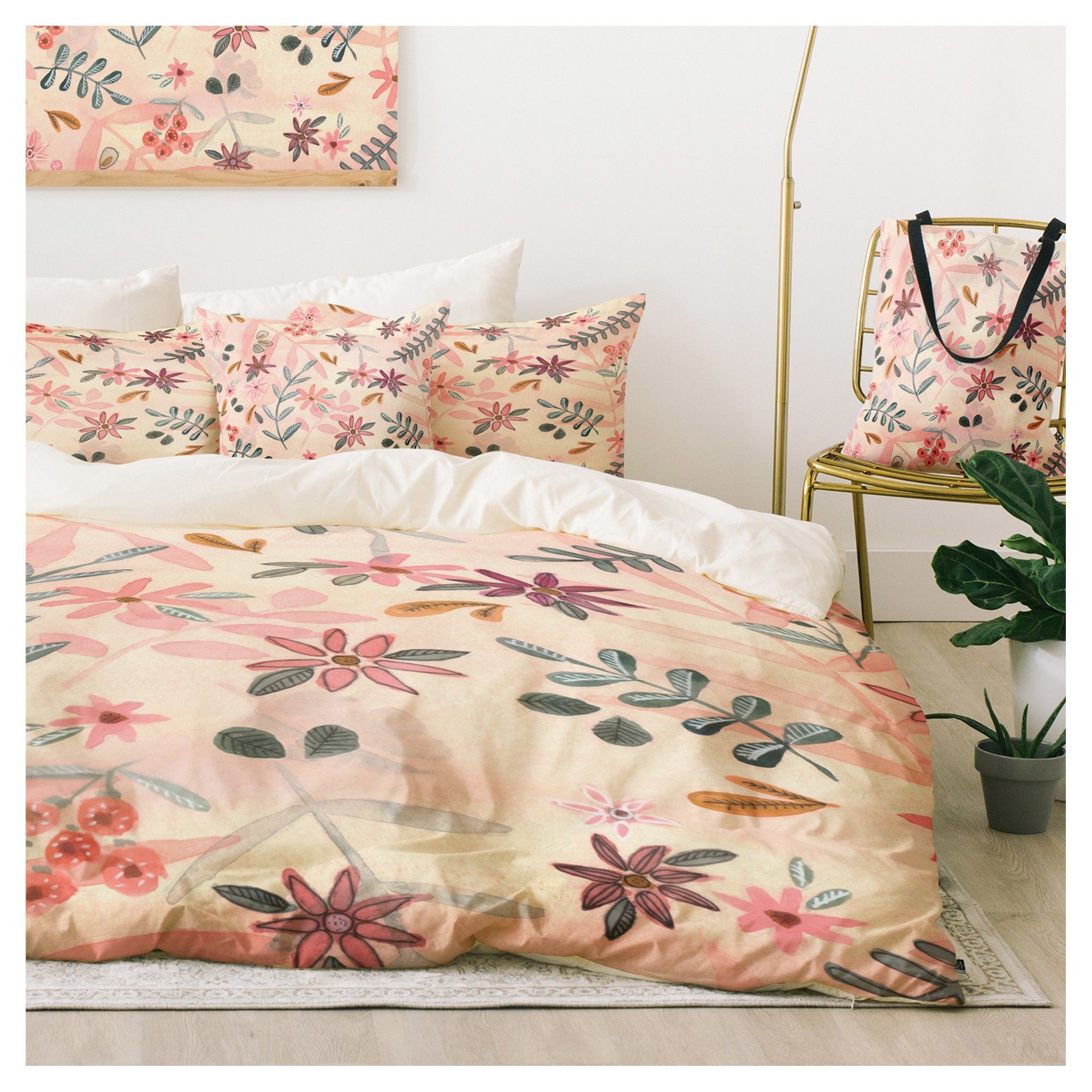 duvet bedding red quilted quilt king floral bedspread cover set