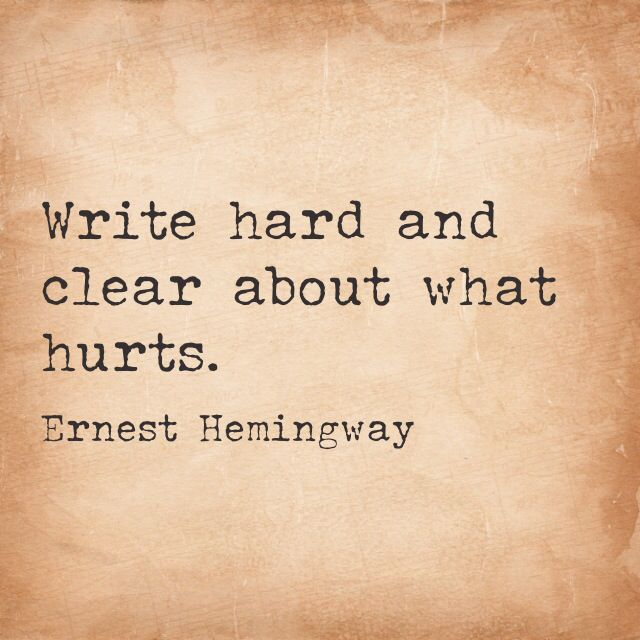 Image result for write hard and clear about what hurts