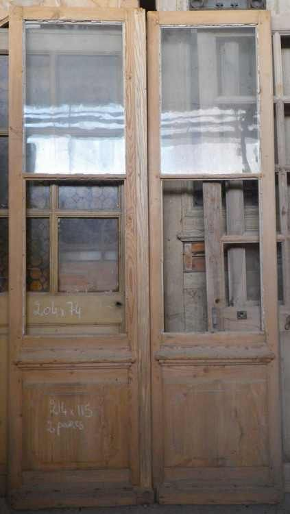 c2va6 porte d 39 interieur 2 vantaux vitree portes pinterest portes vitr es int rieures. Black Bedroom Furniture Sets. Home Design Ideas