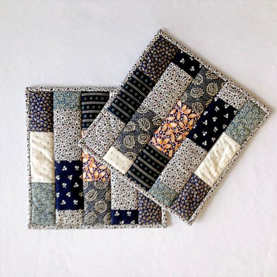 Quilted Patchwork Pot Holders / Hot Pads / by DocksideDesigns