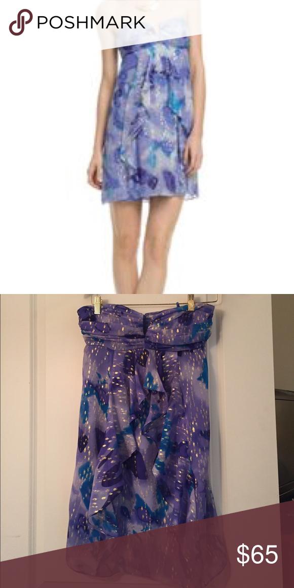 Nicole miller silk cocktail dress