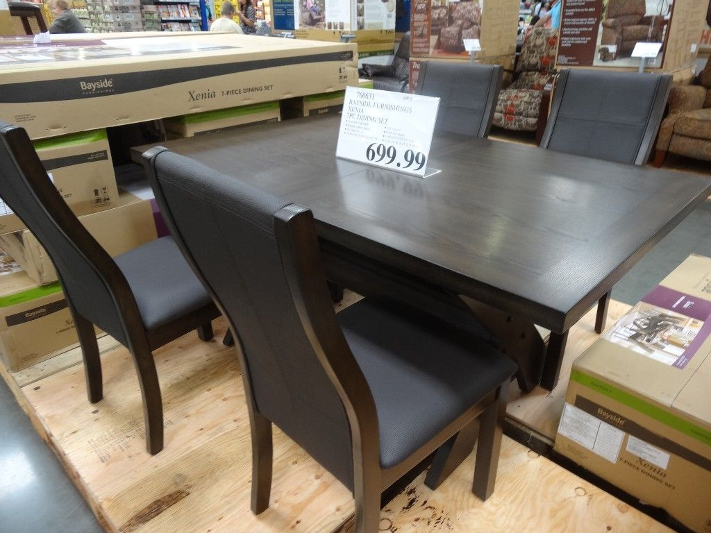 costco kitchen table and chairs | The table is made of solid ...